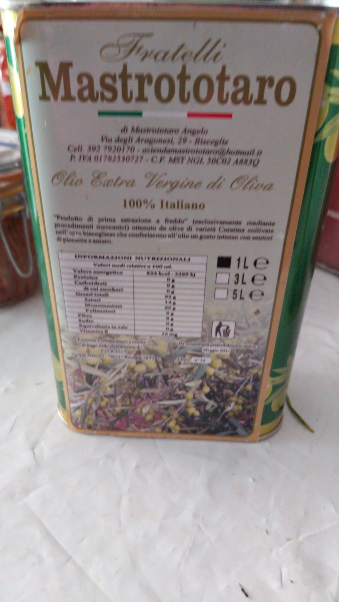 Olio extra vergine di oliva MASTROTOTARO